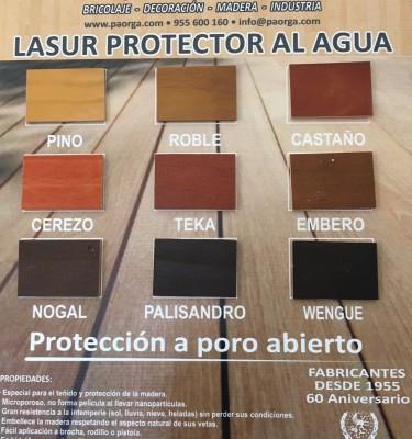 LASURES PROTECTORES AL AGUA PARA MADERA