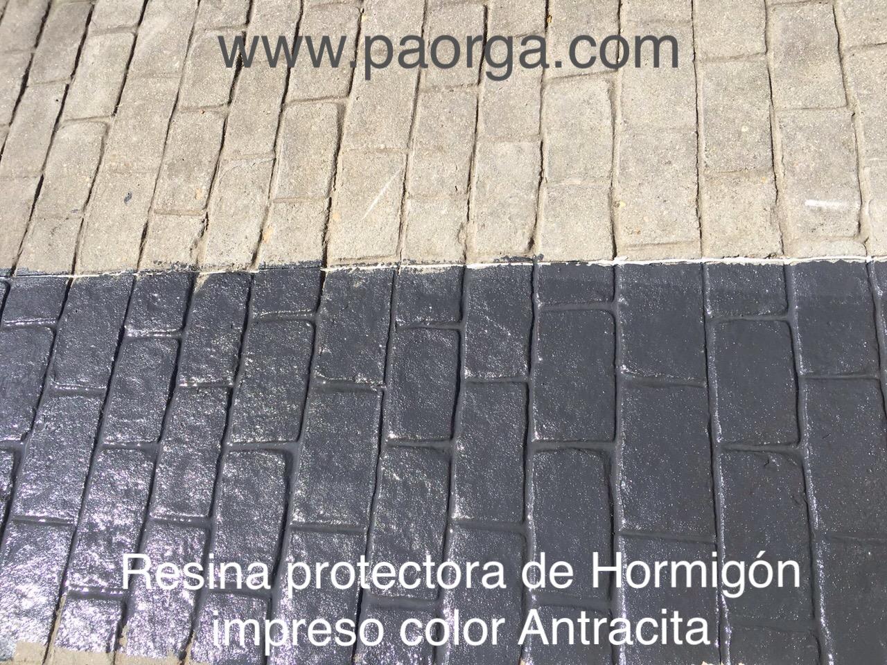 Resina protectora de hormig n impreso y pavimentos for Resina para hormigon